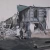 Retrato de mi padre con delantal blanco después del maremoto de 1960